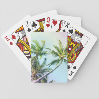 Relaxing Rainbow Color Palms Playing Cards