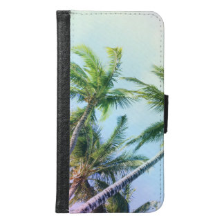 Relaxing Rainbow Color Palms Samsung Galaxy S6 Wallet Case