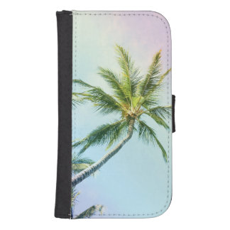 Relaxing Rainbow Color Palms Samsung S4 Wallet Case