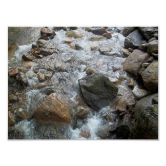 Relaxing River Rocks Poster