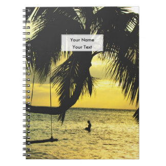 Relaxing Romantic Beach Scence Note Book
