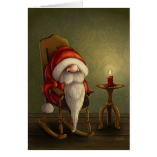Relaxing Santa Card