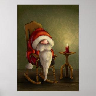 Relaxing Santa Poster