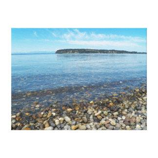 Relaxing Shoreline Seacape Photo Canvas Print