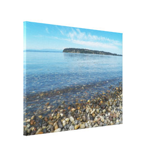 Relaxing Shoreline Seacape Photo Canvas Print