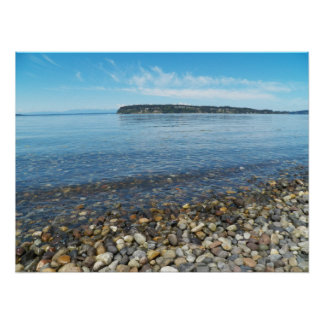 Relaxing Shoreline Seascape Poster