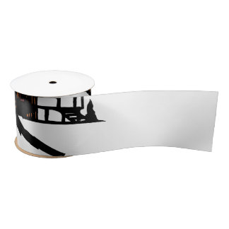 Relaxing Ski Lodge Satin Ribbon