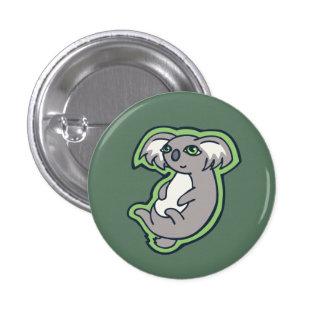Relaxing Smile Gray Koala Green Drawing Design 3 Cm Round Badge