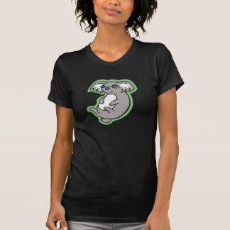Relaxing Smile Gray Koala Green Drawing Design T-Shirt