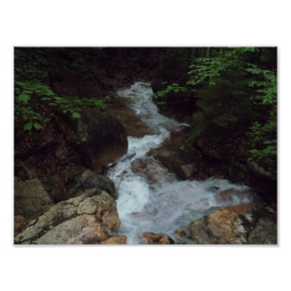 Relaxing Stream With Rocks Poster