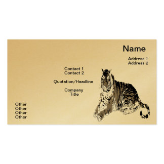 Relaxing Tiger Business Card
