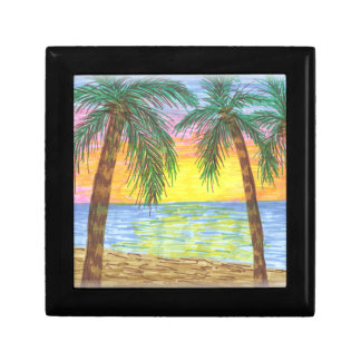 Relaxing Tropical Beach Palm Trees Gift Box