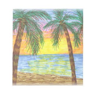 Relaxing Tropical Beach Palm Trees Notepad