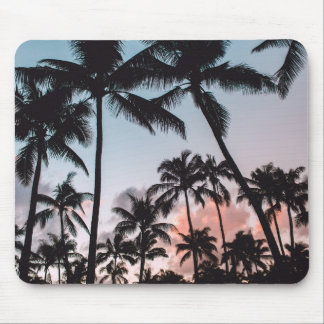 Relaxing Tropical Palm Trees Sunset Beach Mouse Pad