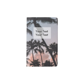 Relaxing Tropical Palm Trees Sunset Pocket Moleskine Notebook