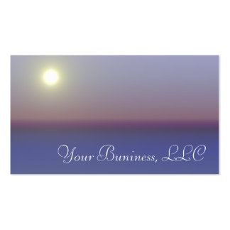 Relaxing Water and Sky Scene Business Cards