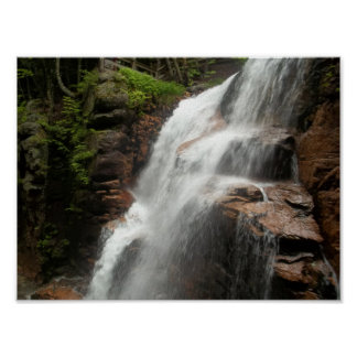 Relaxing Waterfall Nature Photography Poster