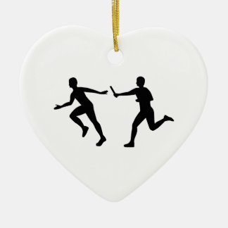Relay race ceramic ornament