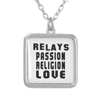 Relays Designs Square Pendant Necklace