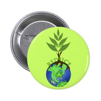 Releaf Reduce Recycle 6 Cm Round Badge