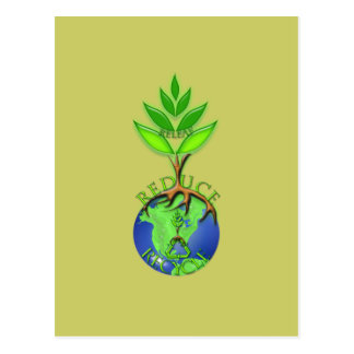Releaf Reduce Recycle Postcard