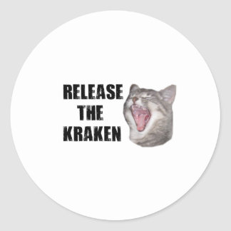Release the Kraken! Classic Round Sticker