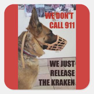 Release the Kraken German Shepherd Sticker
