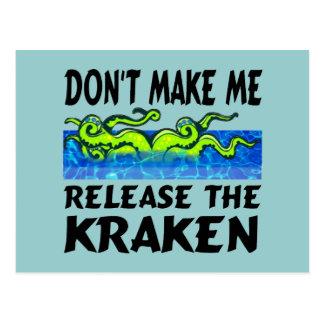 Release the Kraken Postcards