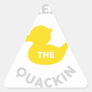 Release the Quackin Triangle Sticker