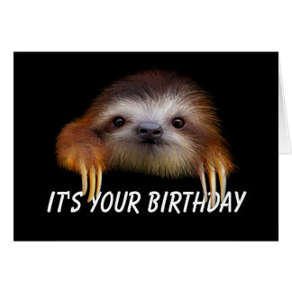 Release Your Inner Sloth Birthday Card