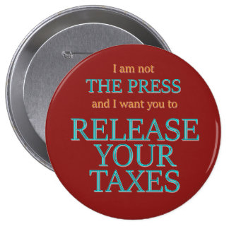 Release your taxes 10 cm round badge