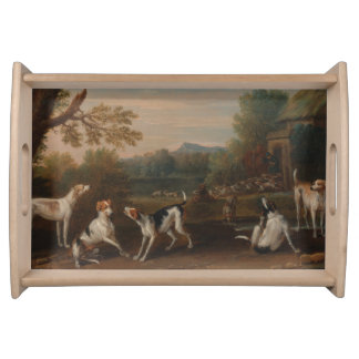 Releasing the Hounds by John Wootton Serving Tray