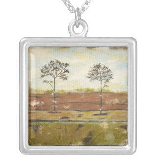 Relic Square Pendant Necklace Original Painting
