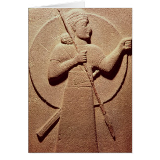 Relief depicting a Hittite warrior Card