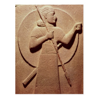 Relief depicting a Hittite warrior Postcard