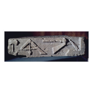 Relief depicting a stonemason s instrument print