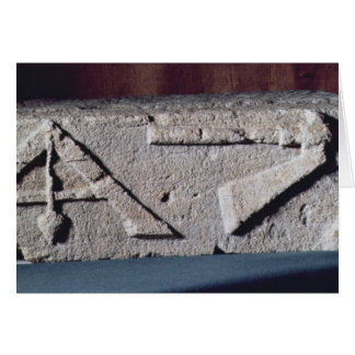 Relief depicting a stonemason's instrument greeting card