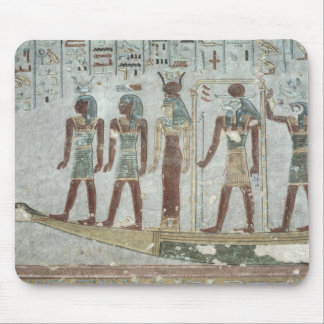 Relief depicting Khnum in a funerary  barque Mouse Pad