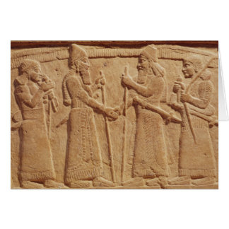Relief depicting King Shalmaneser III Greeting Card