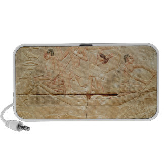 Relief depicting men in a boat iPhone speakers