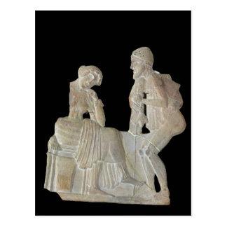 Relief depicting Odysseus and Penelope Postcard