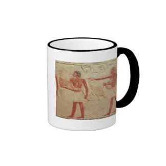 Relief depicting servants coffee mugs