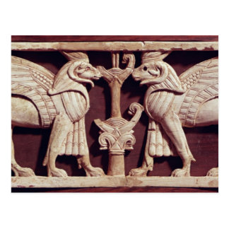 Relief depicting two griffons, from Arslan Tash Postcard