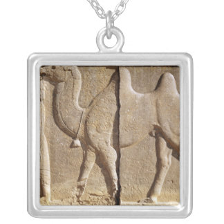 Relief from the front of the eastern stairway silver plated necklace