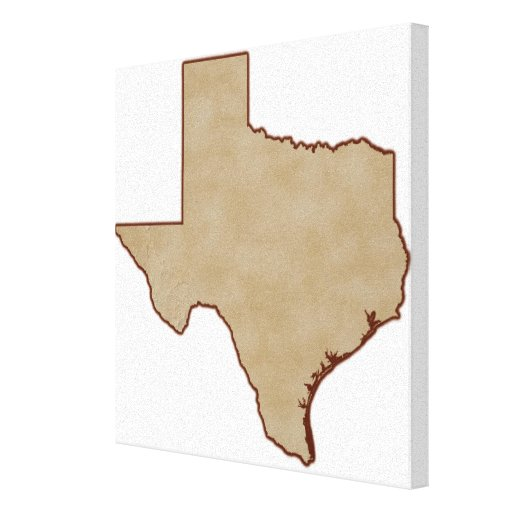 Relief Map of Texas Stretched Canvas Print