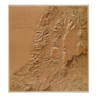 Relief map of Utah Poster