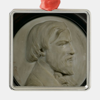 Relief medallion of Frederic Ozanam Christmas Tree Ornaments