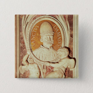 Relief of Damasus I  on a nave pilaster 15 Cm Square Badge