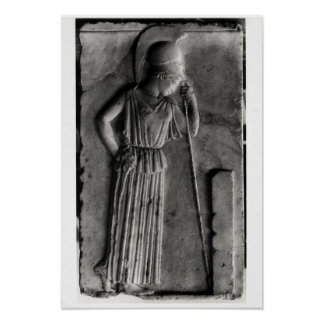 Relief of the Mourning Athena, c.460 Poster
