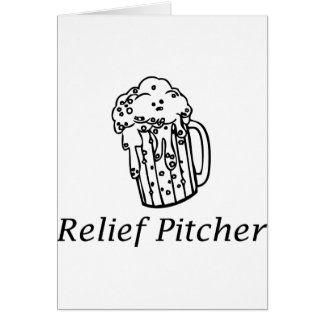 Relief Pitcher Greeting Card